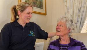 Carer and Client Happy