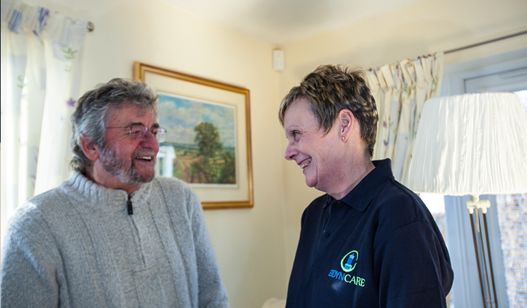Carer and Client in home