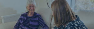 Carer and client for Eidyn Care