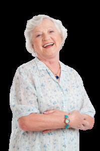 Happy Elderly Lady