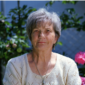 Outdoors elderly lady
