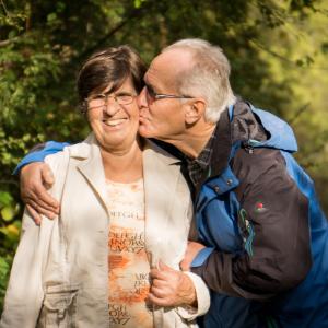 Happy elderly couple living life to the max