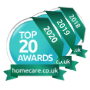 Awards stacked top 20 homecare