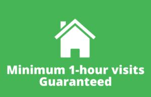 1 hour visits guaranteed