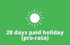 28 days holiday pro rata