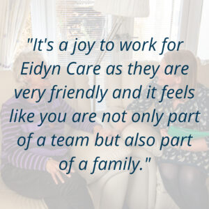 Eidyn Care carer review positive