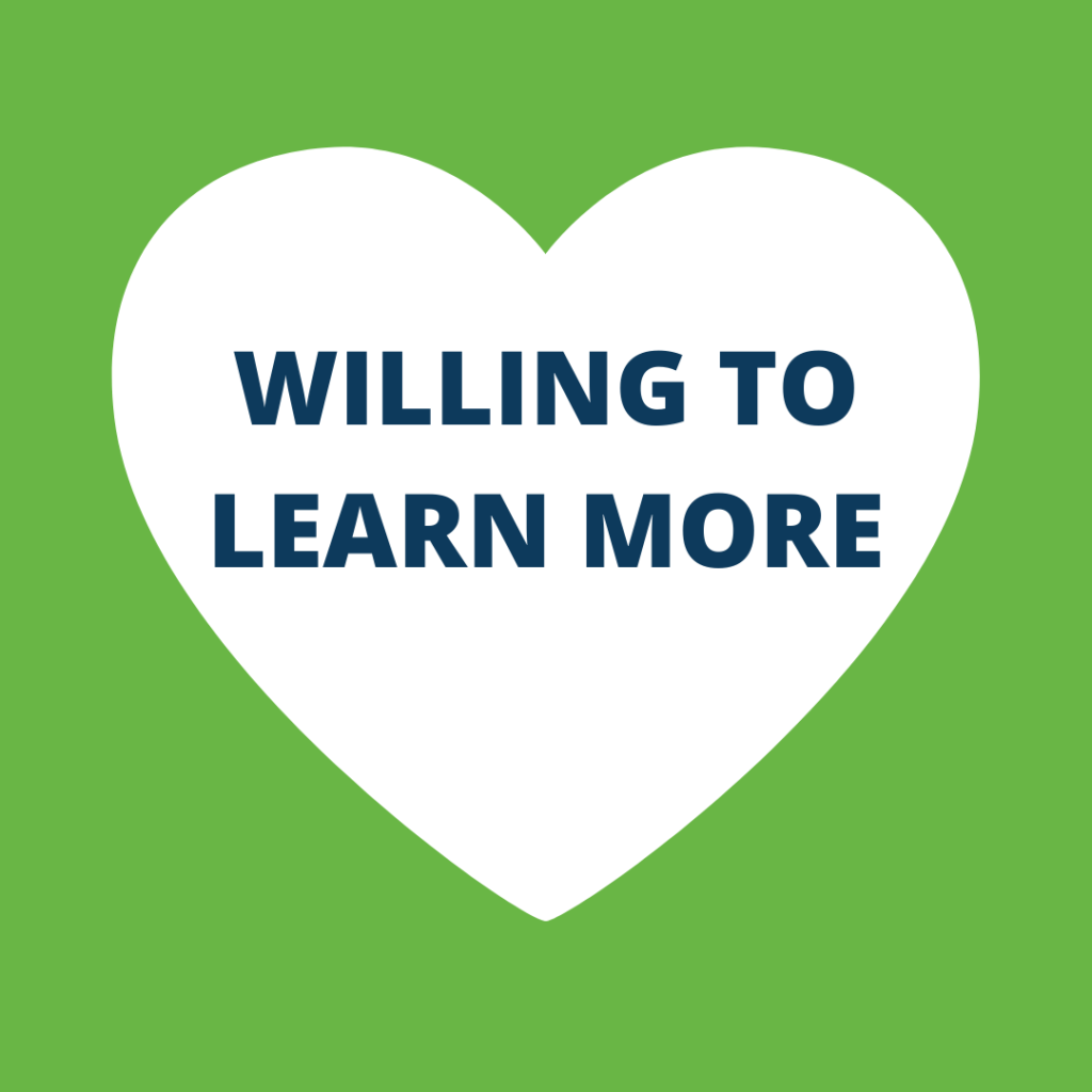Willing to learn more as a carer