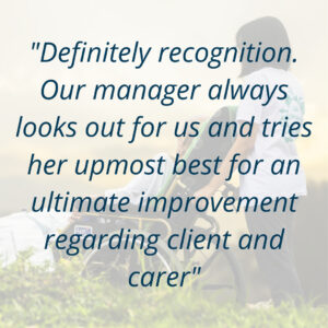 Review of the business from a happy carer