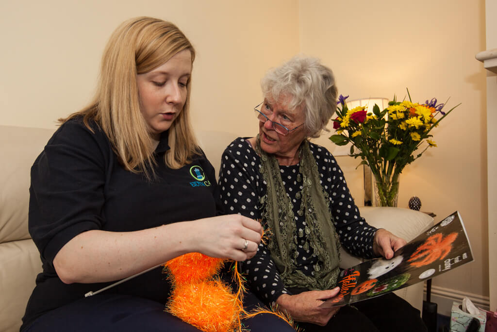 Eidyn Carer and Client Knitting